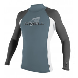 O'Neill Heren UV shirt Preformance Lange mouw Dusty Blue / White