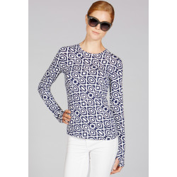 Mott50 Michelle Shirt Lange mouw Navy Diamond