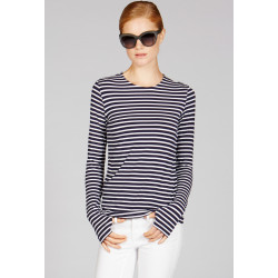 Mott50 Shirt Lange mouw Michelle Navy White Stripe