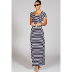 Mott50 Dames Maxi Dress Alice Navy White Stripe