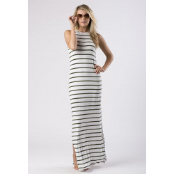 Mott50 Eva Dames Maxi Dress Safari Stripe