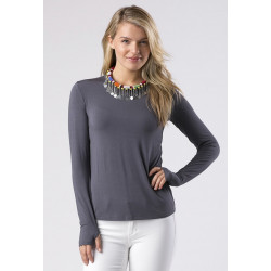 Mott50 Michelle UV Shirt Lange mouw Smoke Grey