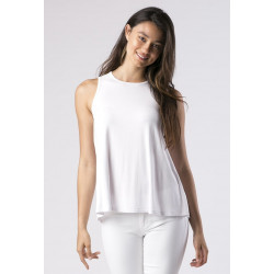 Mott50 UV top mouwloss Tory White