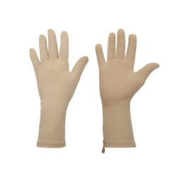 Full Finger UV Handschoenen kort Original grip Nude