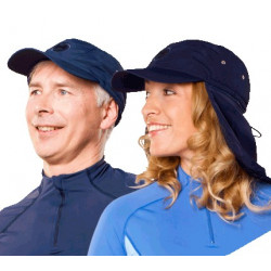 Hyphen Adult UV cap met afritsbare flap Deep Sea
