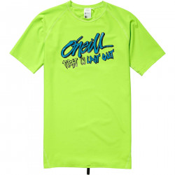 O'Neill Boys UV Shirt Korte Mouw Fluor Green