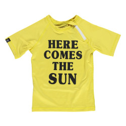 Beach & Bandits - UV-zwemshirt kind - Here comes the Sun - Geel