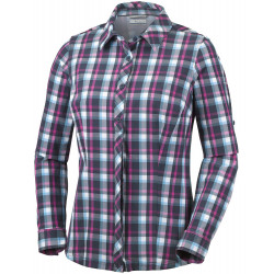 Columbia Dames UV Blouse Saturday Trail Stretch Plaid Atoll