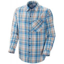 Columbia Heren UV overhemd Multi Plaid Blue