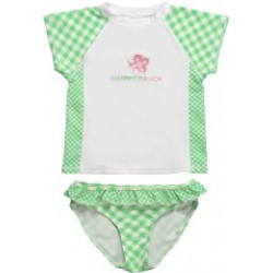Snapper Rock Girls UV swim-set Green Check