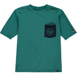 O'Neill Boys UV Shirt Korte Mouw Green-Blue Slate