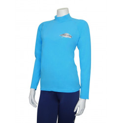 Stingray heren of dames UV surf shirt lange mouwen- azuur