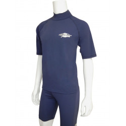 Stingray heren of dames UV surf shirt korte mouwen- donkerblauw