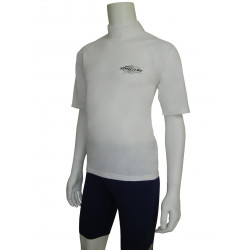 Stingray heren of dames UV surf shirt korte mouwen- White